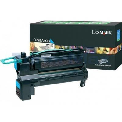 LEXMARK C792/X792 PRINT CART CYAN RP TAA